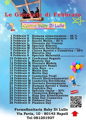 Giornate Centro Baby Febbraio 2019 su sito