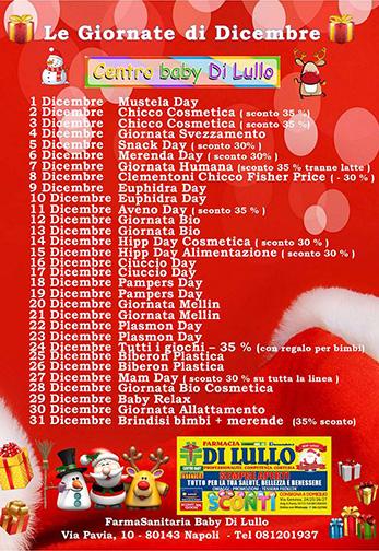 Giornate Dicembre FarmaBaby di Lullo - su sito